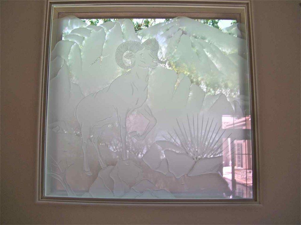 Etched Glass Windows Create Privacy Thru Art Sans Soucie