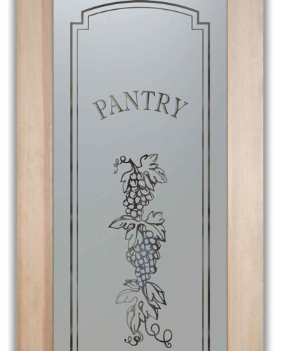 Pantry Doors W Carved Amp Etched Glass Grapes Sans