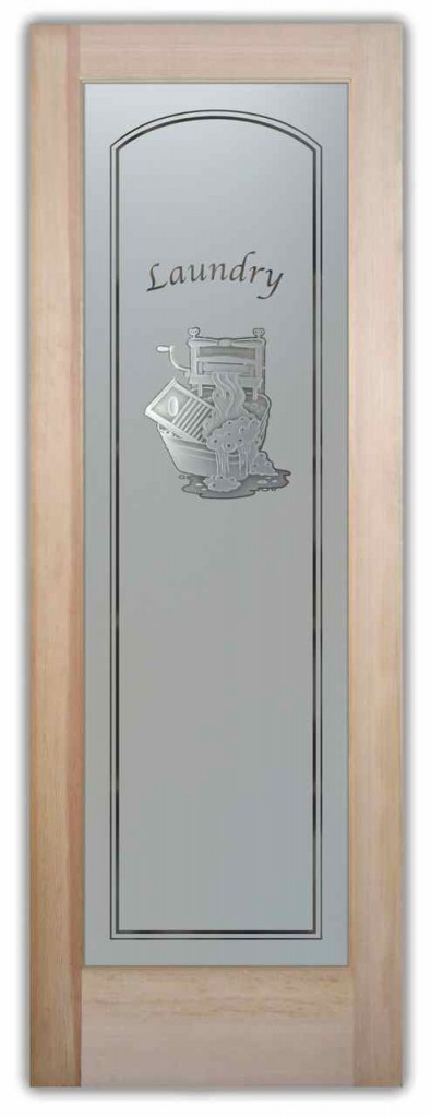 Laundry Room Doors With Custom Frosted Glass Door Inserts