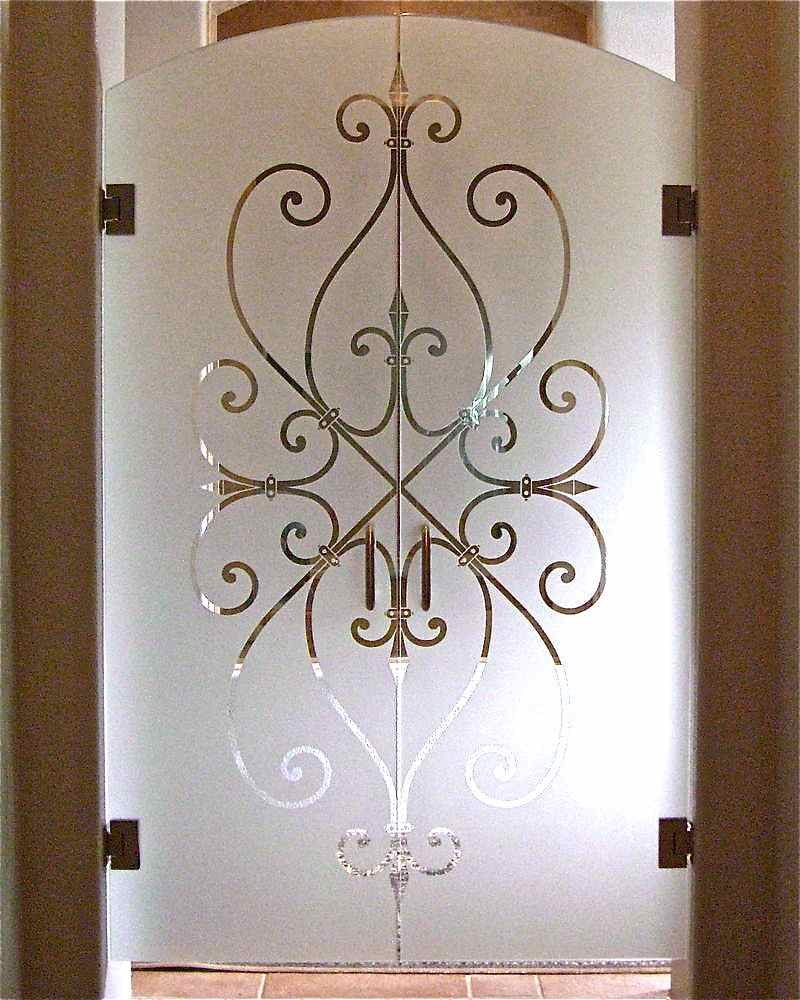 Glass Door Designs. Ironwork Hearts Iv Glass Door Designs