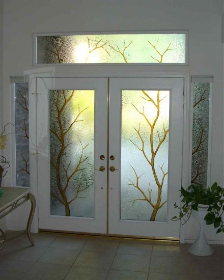 Exterior Door Sans Soucie Art Glass