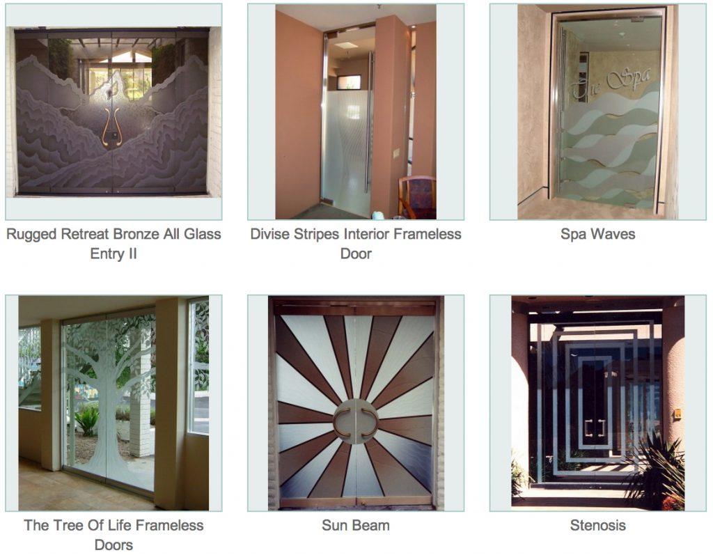 Frameless Glass Doors : Frameless doors sans soucie art glass