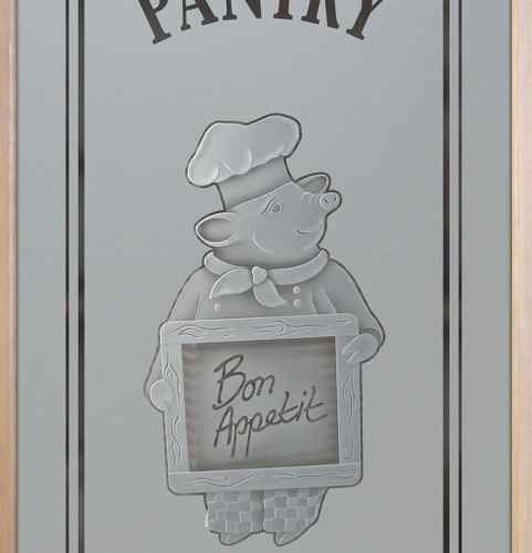 Piggy Chef Pantry Door