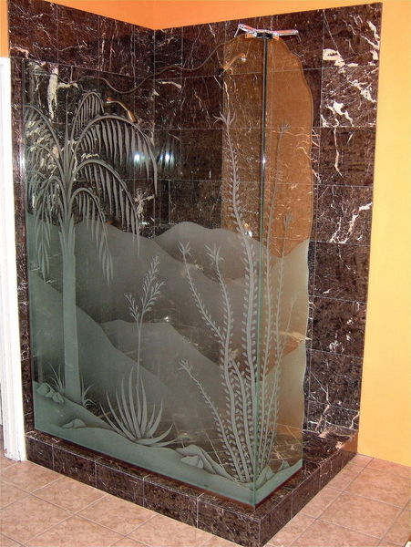 Bathroom vanity glass sans soucie art glass - Bathroom vanity with frosted glass doors ...