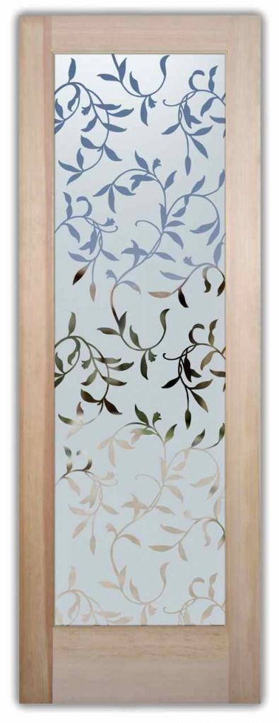 Foliage designs sans soucie art glass for Glass etching designs for doors