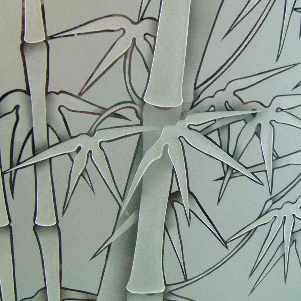 Etched glass doors privacy glass door inserts bamboo pictures to pin - 3d Carved Pinstripe Outline