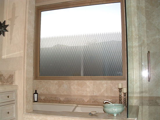 Decorative glass window frosted for privacy simply for Decorative windows for bathrooms