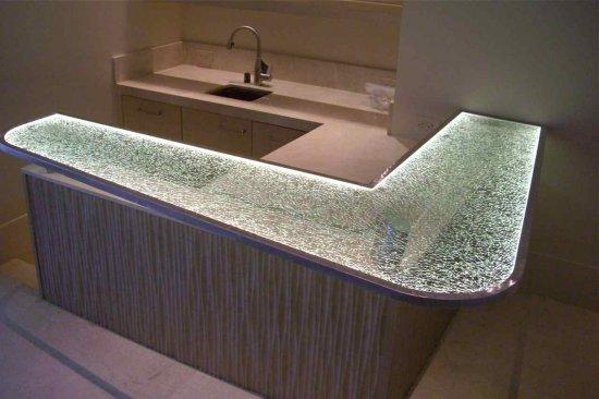 Stunning Custom Glass Bar Counter Tops Sans Soucie Art Glass
