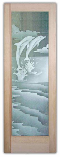 Etched Frosted Glass In Sea Life Design By Sans Soucie