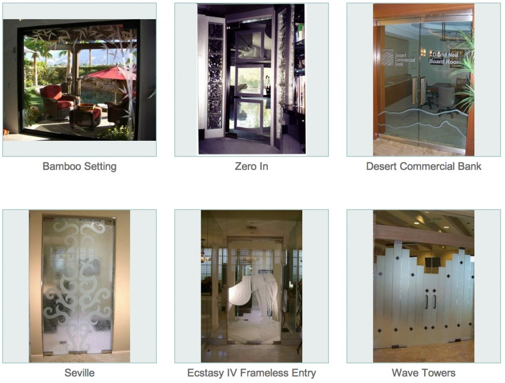 Frameless Doors - Sans Soucie Art Glass