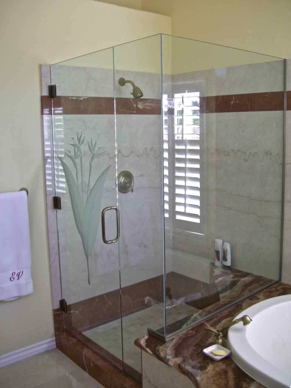 Custom Showers Sans Soucie Art Glass - Custom showers