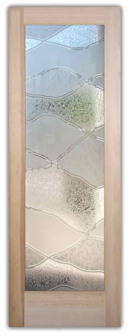 Entry glass doors sans soucie art glass Glass bathroom doors interior