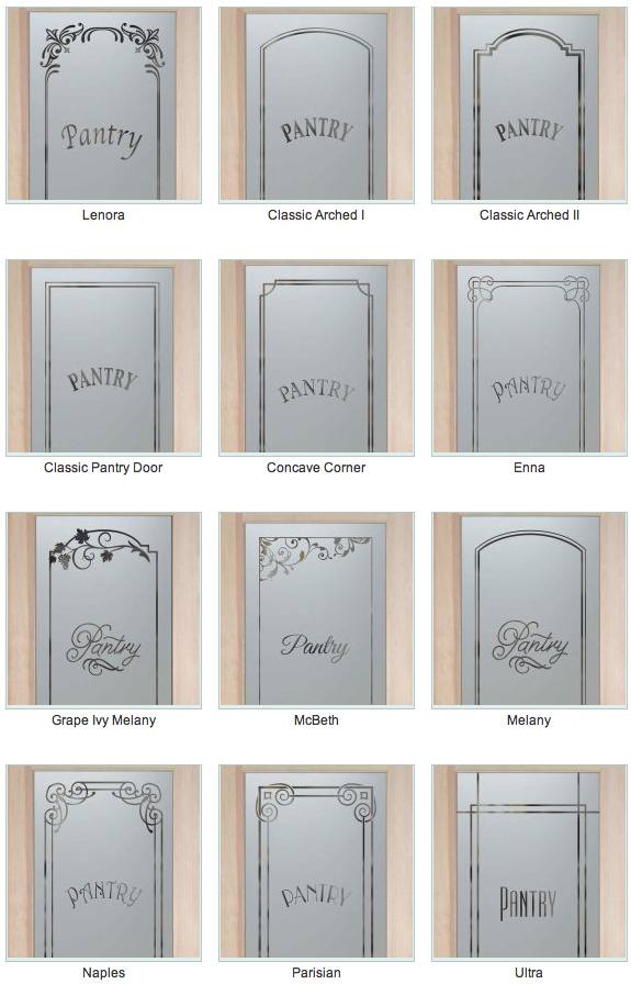 Etched Glass Pantry Door Sans Soucie Art Glass