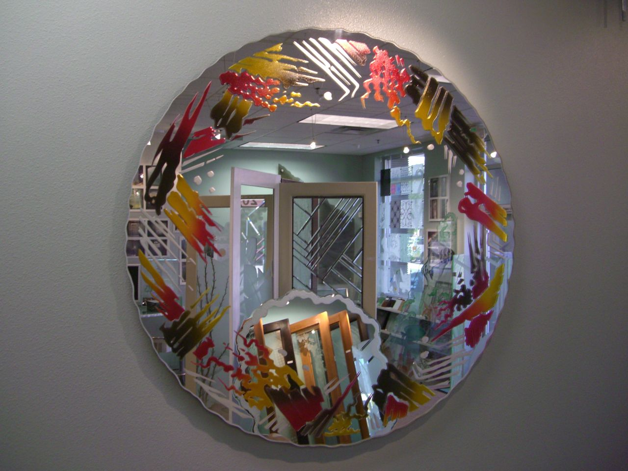 Color in glass sans soucie art glass for Custom mirror glass