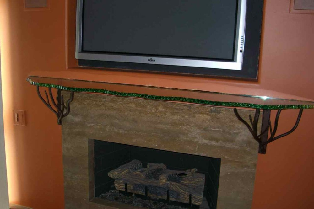 Prime Chipped Edge Fireplace Mantel Shelf Sans Soucie Art Glass Home Interior And Landscaping Ologienasavecom
