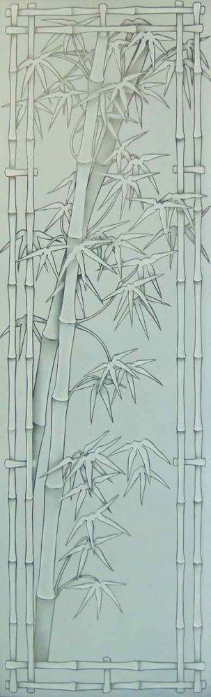 Bamboo Glass Panels : Bamboo glass designs sans soucie art