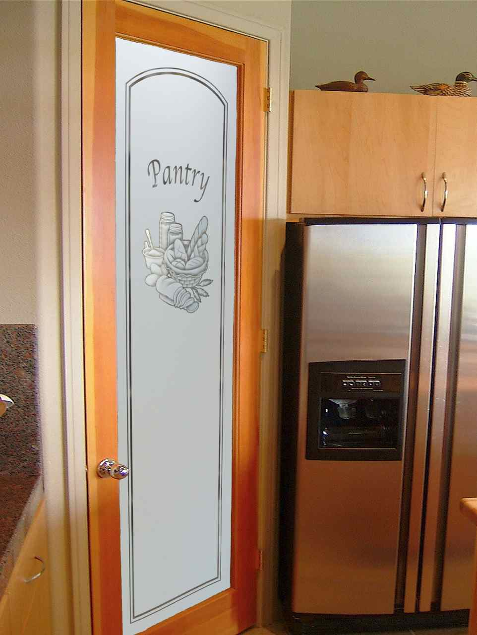 Frosted glass pantry doors sans soucie art glass for Exterior kitchen doors with glass