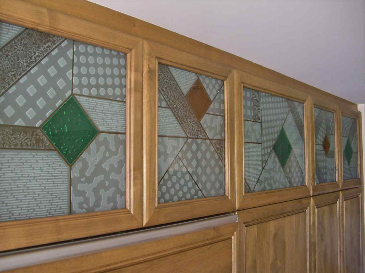 Geometric Designs Sans Soucie Art Glass