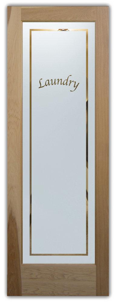 Pinstripe Apple Chancery Laundry Room Door