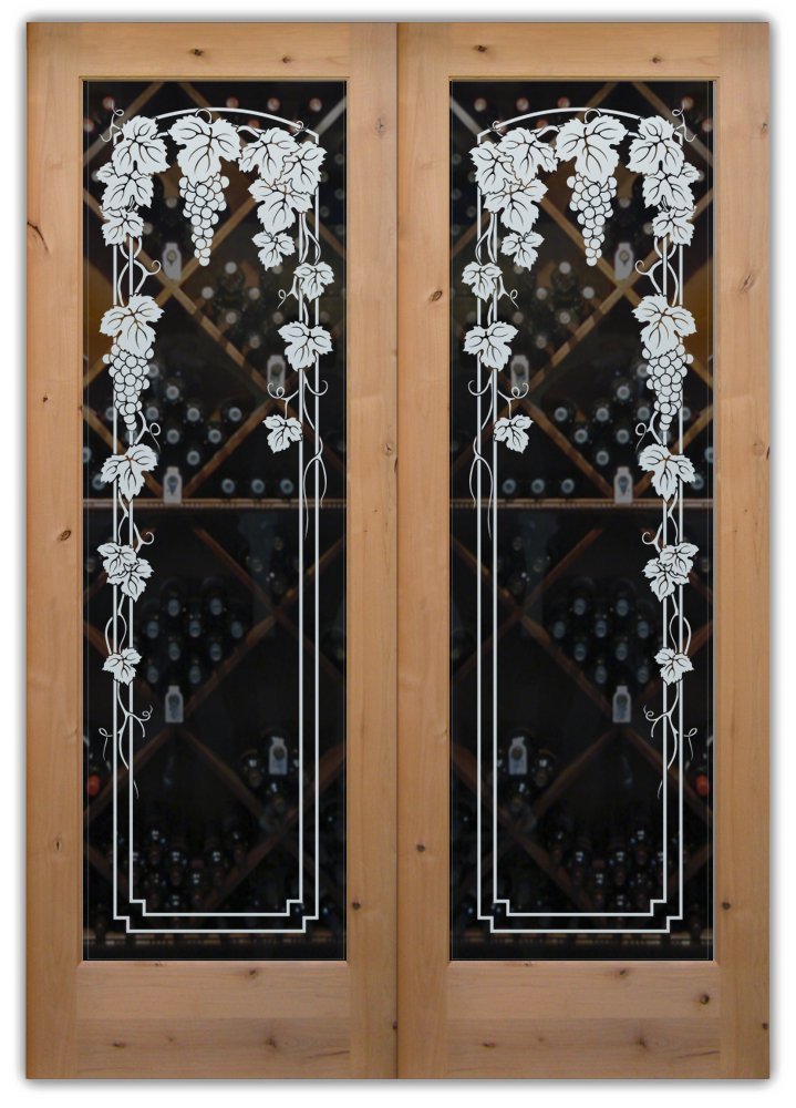 Vineyard ... & Wine Door Glass - Sans Soucie Art Glass