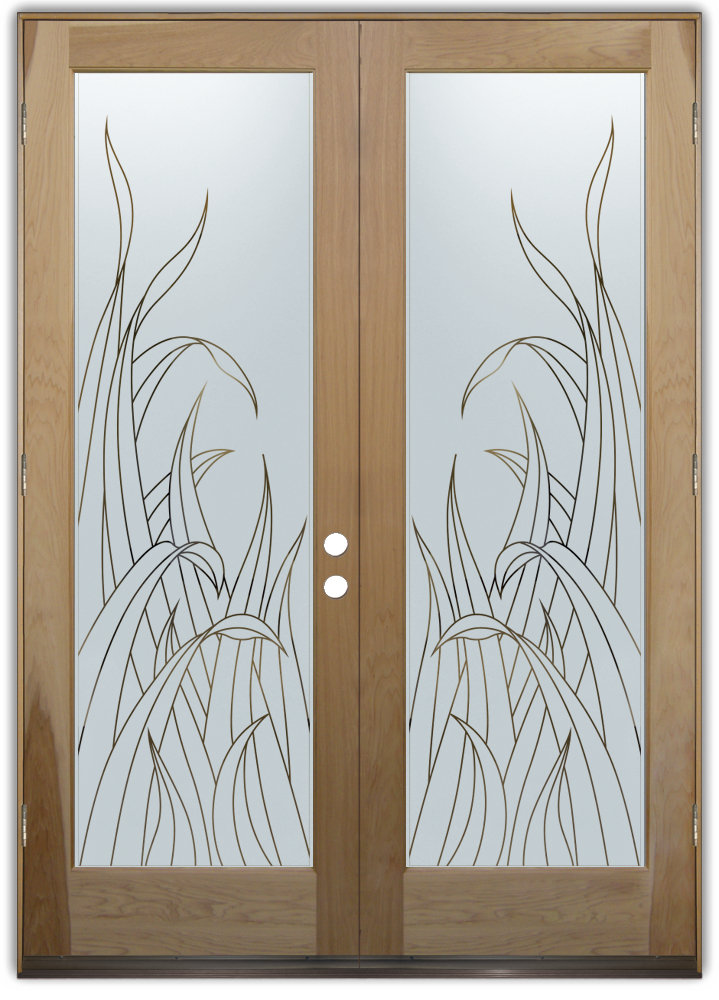 frosted glass entry doors