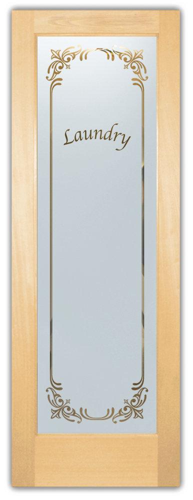 Ordinaire Maple Glass Laundry Room Door