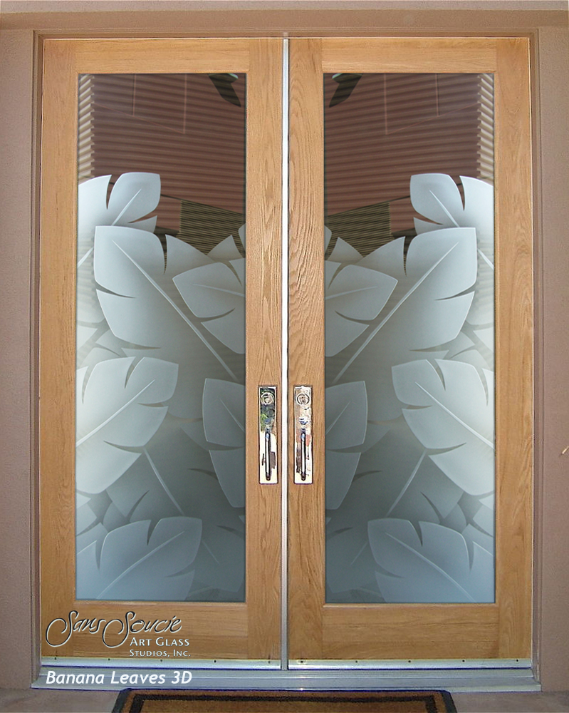 Frosted glass front doors sans soucie art glass for Exterior kitchen doors with glass