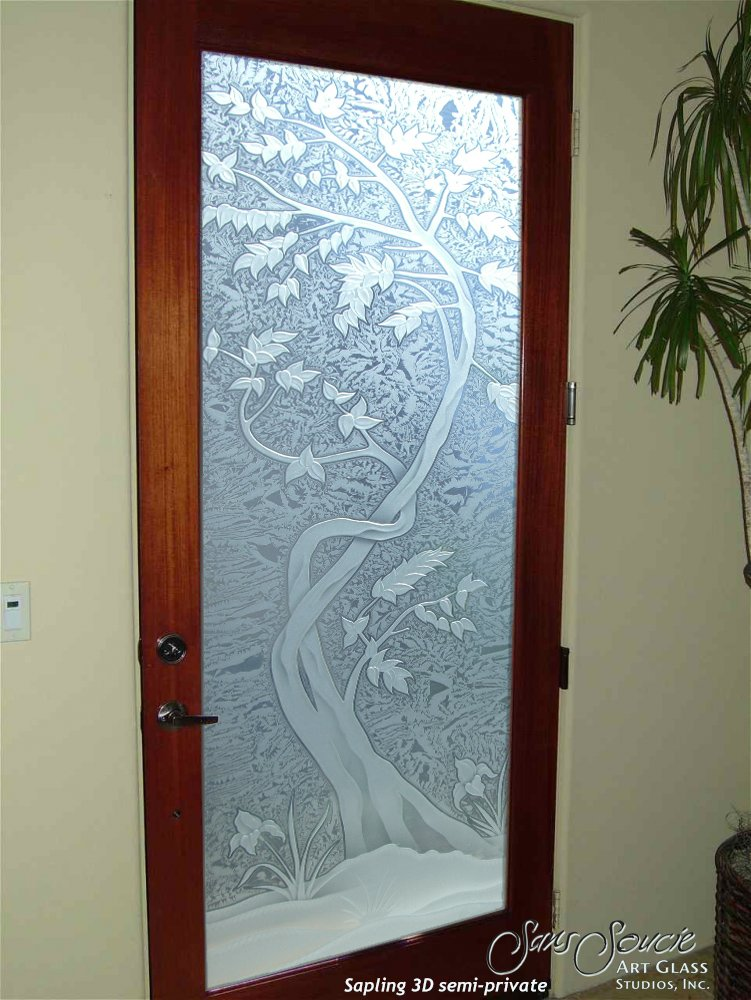 Gorgeous glass front doors sans soucie art glass for Etched glass entry doors