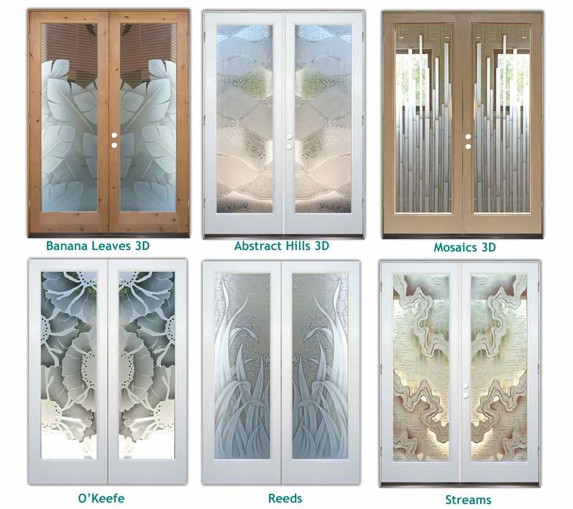 Translucent glass exterior images for Front door glass panels