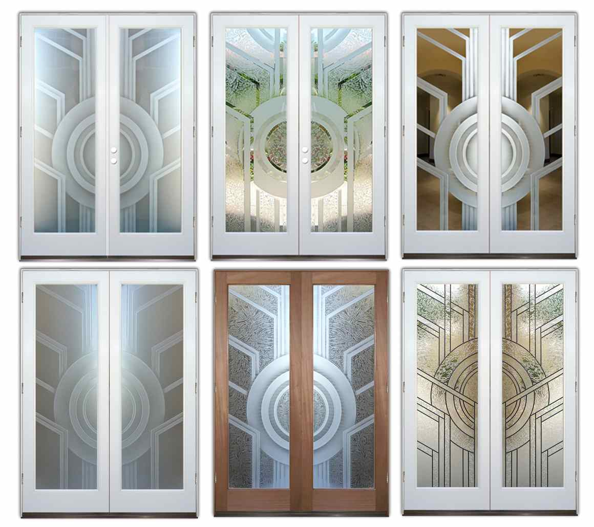 frosted glass front doors - Sans Soucie Art Glass