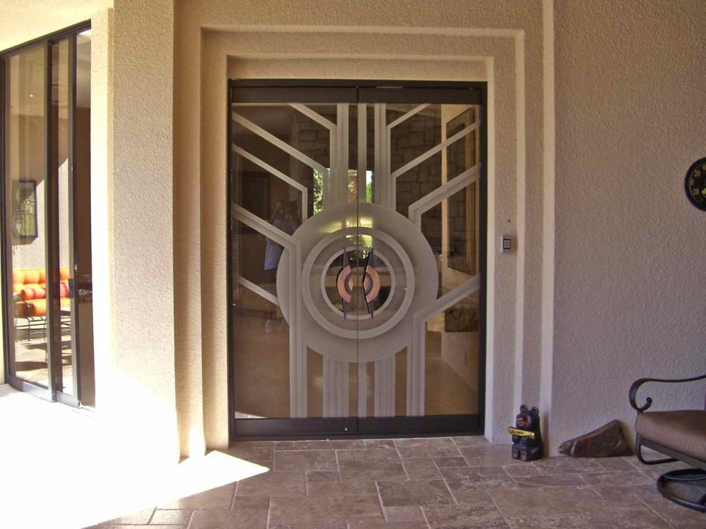 Glass entry doors frosted with exquisite art sans soucie for All glass front door