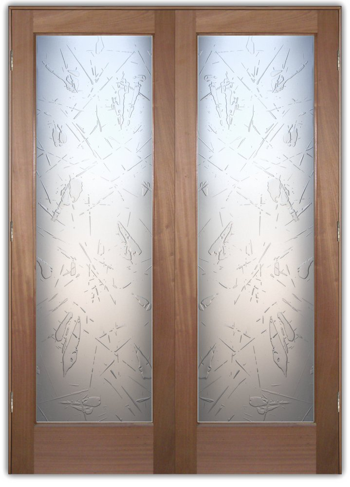 Cabinet Glass Decorative Etched Glass Best Free Home