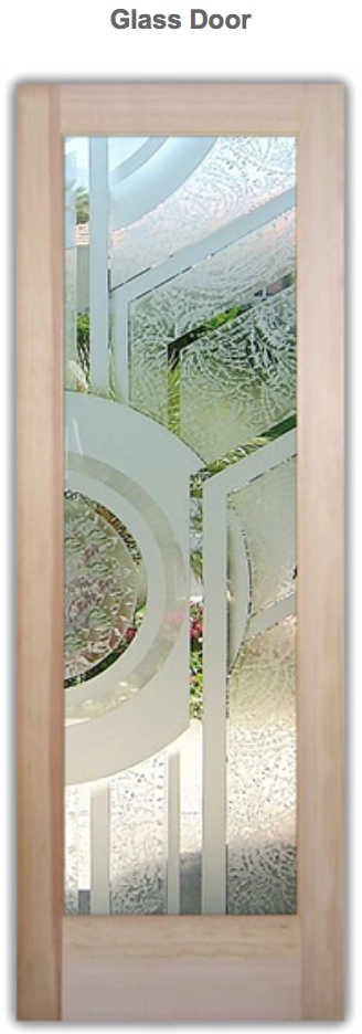 glass doors etched frosted