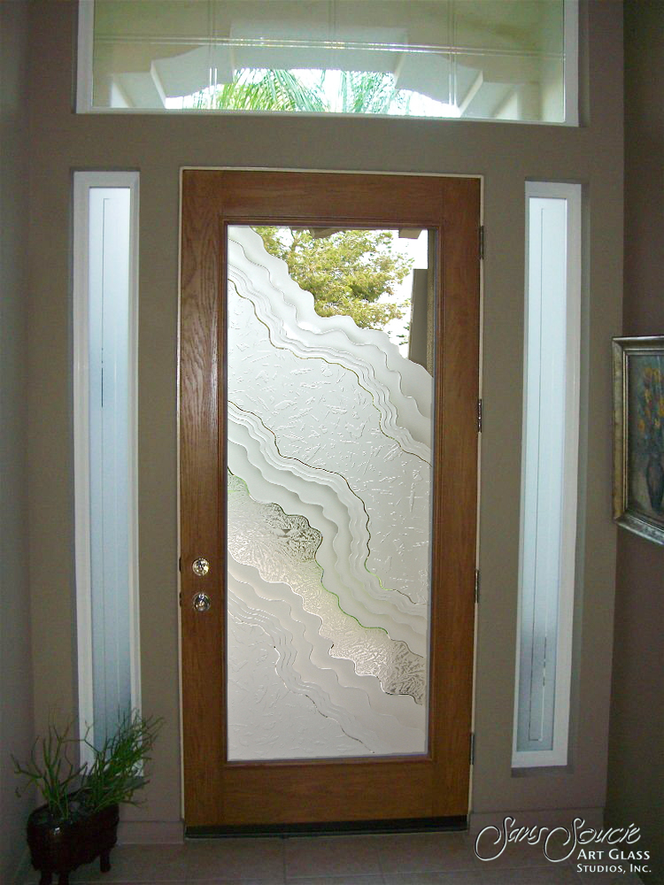 Doors Exterior Glass : Frosted glass entry doors sans soucie art