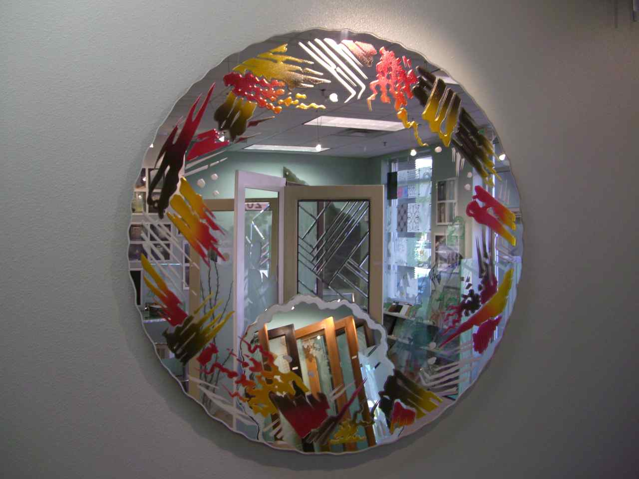 Mirrors sans soucie art glass for Mirror glass design