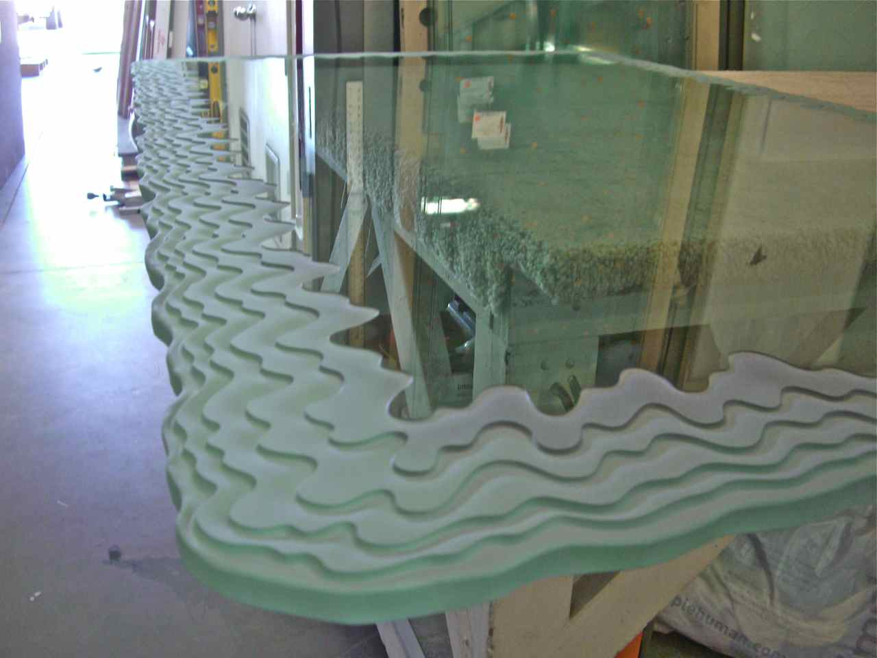 Custom glass table tops sans soucie art glass for Custom transom
