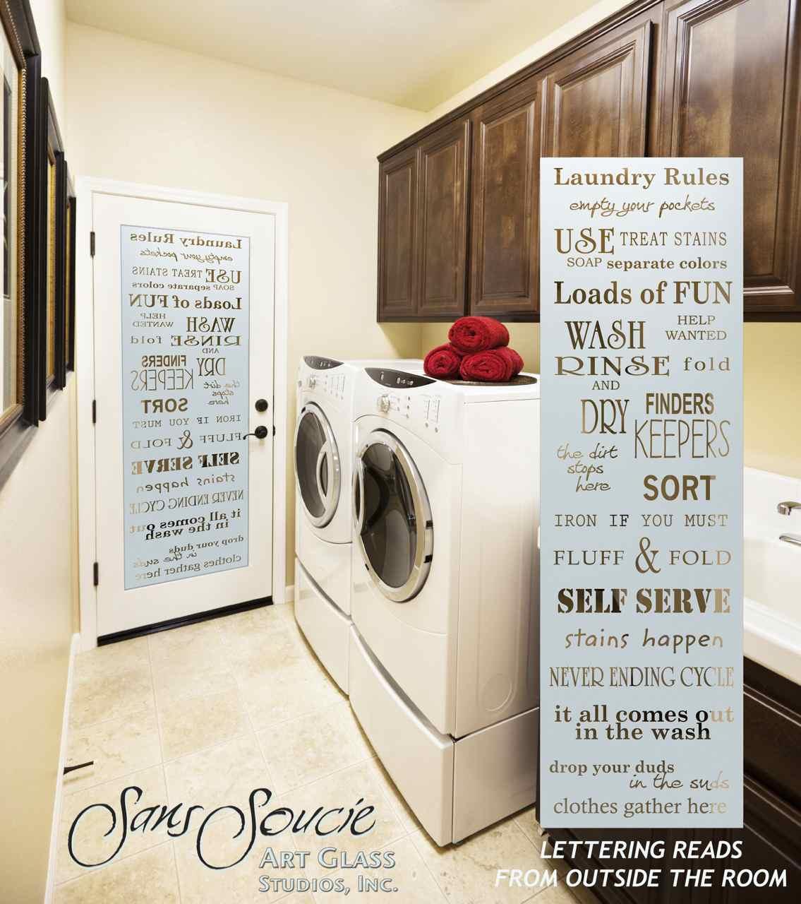 Laundry Rules Room Door 596