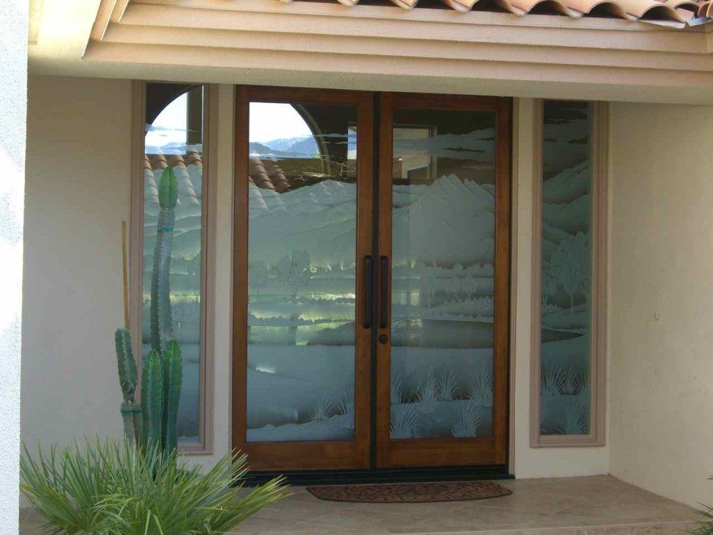 Frosted glass front doors sans soucie art glass for Glass doors for front entrance