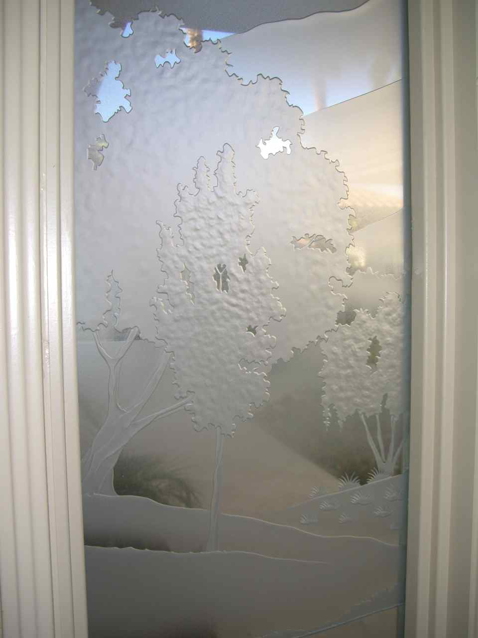 Glass Entry Doors Mountain Landscape Sans Soucie Art Glass