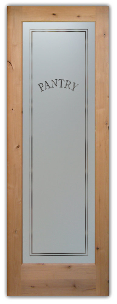 Frosted Glass Pantry Door Knotty Alder