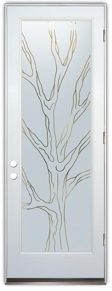 Tree Designs Sans Soucie Art Glass