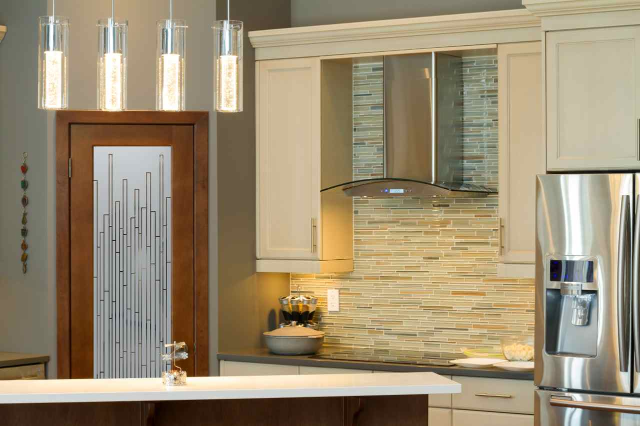 Showroom Worthy Frosted Glass Pantry Doors Sans Soucie