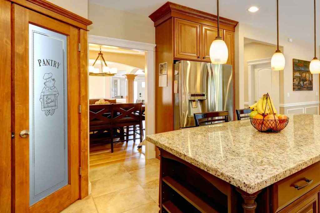 Frosted glass pantry doors sans soucie art glass piggy chef 2d kitchen warm planetlyrics Gallery