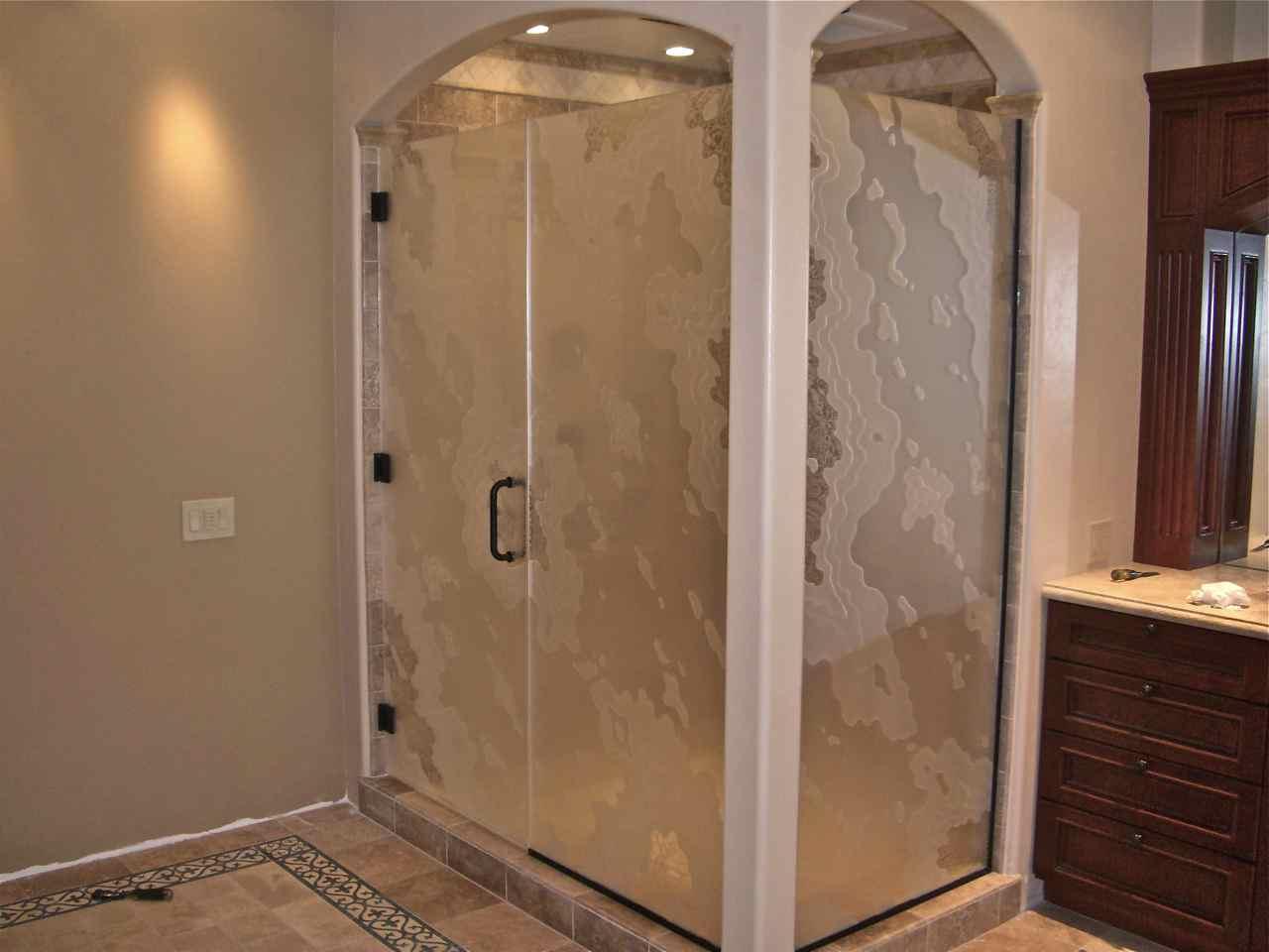 Shower Enclosures - Sans Soucie Art Glass