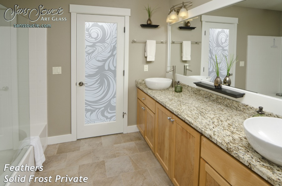 Exceptionnel Custom Glass Doors Feathers Swirls Etched. Feathers Private
