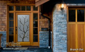 front doors with glass etched glass designs nature barren rustic style sans soucie branch out