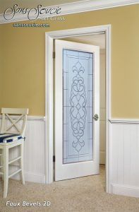 Interior Doors Etched Glass French Victorian Decor by Sans Soucie
