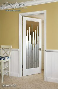 interior glass doors modern style frosted glass vertical pinstripes mosaics sans soucie
