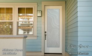 Entry Doors with Etched Glass Tropical Coastal Decor by Sans Soucie