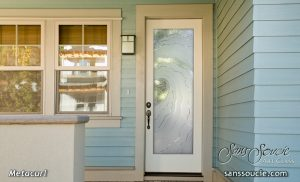 exterior glass doors etched glass nautical decor oceanic waves